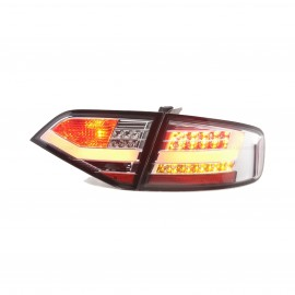 Audi A4 4D Look Chrome Lens Tail Light