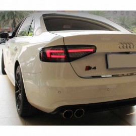 Audi A4 4D Look Tail Light with Sequential Black