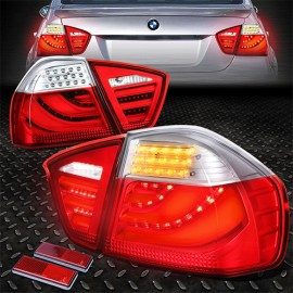 BMW 3 Series E90 3D Look Tail Light Red-Clear Lance