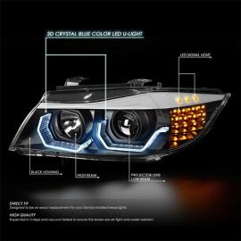 BMW 3 Series E90 4D Look Angle Eye Head Light