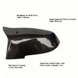 BMW 3 Series F30 M4 Style Look Carbon Fiber Mirror Cover