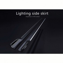 Universal Side Skirts LED Blue by mobile app 1820MM