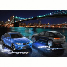Universal Side Skirts LED Blue by mobile app 1720MM