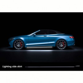 Universal Side Skirts LED Blue by mobile app 2020MM