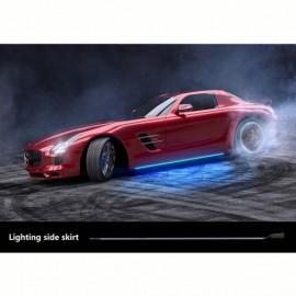 Universal Side Skirts LED Blue by mobile app 2120MM