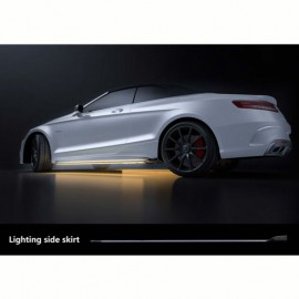 Universal Side Skirts LED White by mobile app 1820MM