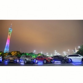 Universal Running Board LED Blue by Mobile App 1820MM